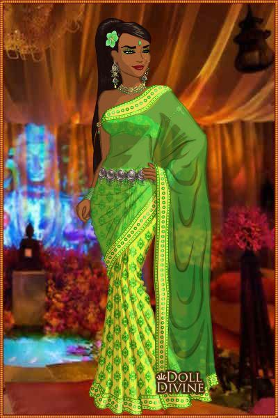 design saree maker adishree by rired1 created using the sari doll maker
