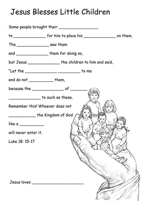 Jesus Worksheets For growing in grace jesus welcomes the children