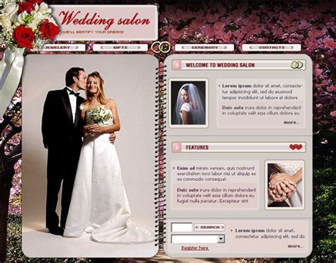 wedding site templates free 18 free lovely wedding website templates designfreebies