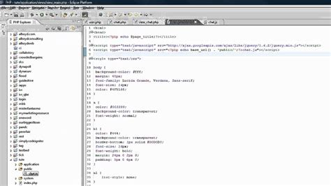 tutorial codeigniter jquery ajax part 1 codeigniter tutorial creating a web chat app