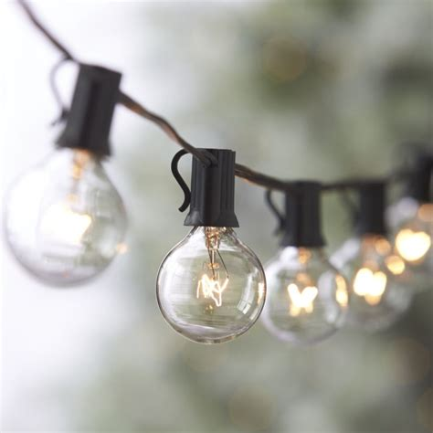 Globe String Lights In Outdoor Lighting Reviews Crate Big Bulb Patio String Lights
