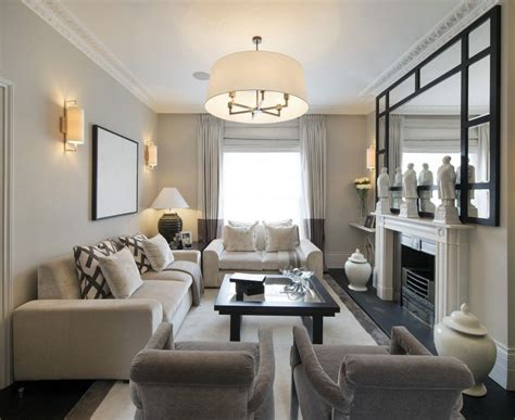note furniture placement  small living room narrow