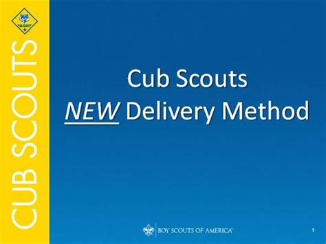 Cub Scout New Delivery Program Authorstream Boy Scout Powerpoint Template