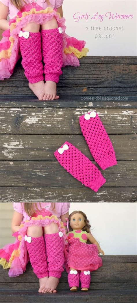 Pink Pattern Leg Warmers | have you seen this free pattern for girly pink leg warmers