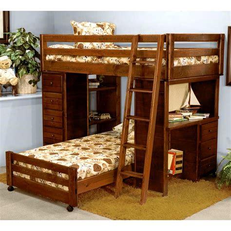 Loft Bedroom Set With Desk Loft Bedroom Set Chest Desk Ladder Cocoa Finish