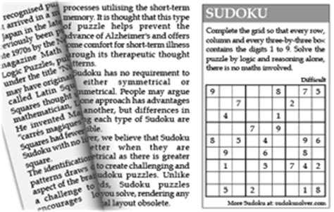 newspaper section crossword sudoku solver newspaper and magazine syndication