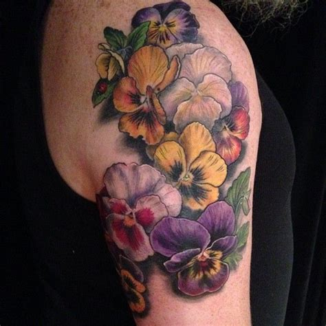 image gallery orange pansy tattoo
