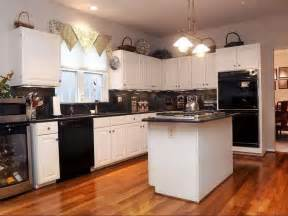 perfect kitchen ideas with black appliances for home remodeling color oak cabinets and