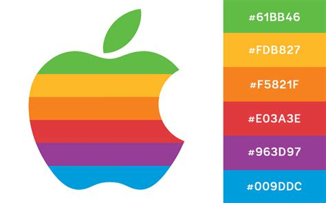 apple colors 6 logos with great color schemes creative market