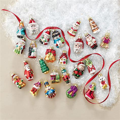 advent calendar mini ornaments set of 25 gump s