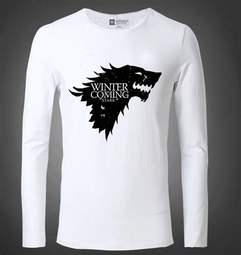 Tshirt Winter Is Coming Stark of thrones winter is coming stark tshirt mens black