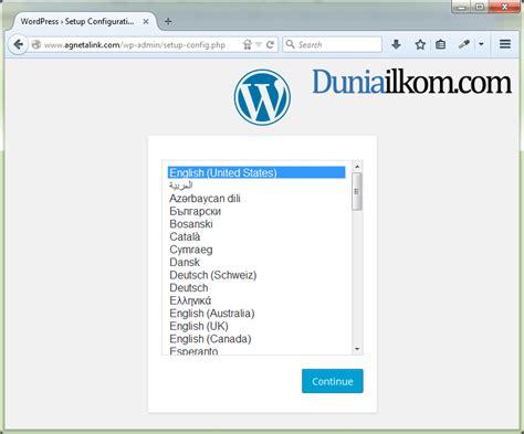 tutorial konfigurasi wordpress cara instal wordpress manual di cpanel duniailkom