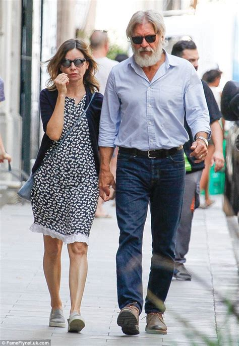 Calista Flockhart And Harrison Ford by Harrison Ford And Calista Flockhart Enjoy Their