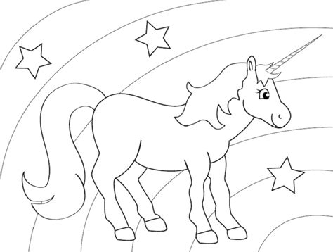 unicorn with rainbow coloring page unicorn coloring page someone is having a unicorn party
