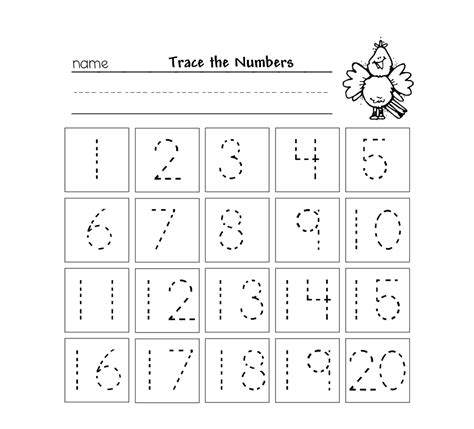 Writing Numbers 1 20 Worksheets Kindergarten Ora Exacta Co | beautiful worksheets 1 2 kids maths sheets kindergarten