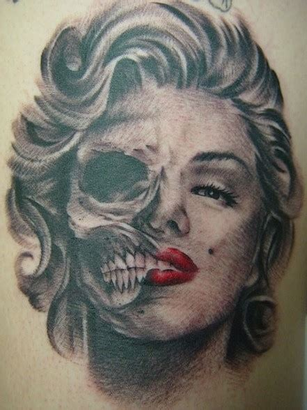 marilyn monroe skull tattoo designs 30 popular marilyn scary skull tattoos golfian