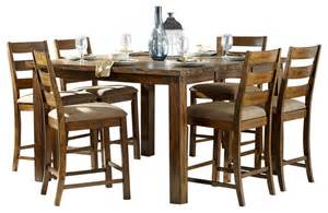 homelegance ronan 7 piece counter height table set in