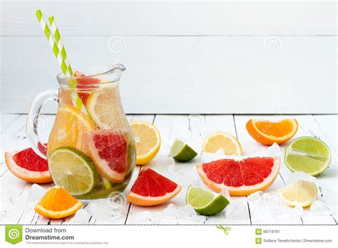 Orange Lemon And Lime Detox Water by Detox Citrus Infused Flavored Water Refreshing Summer