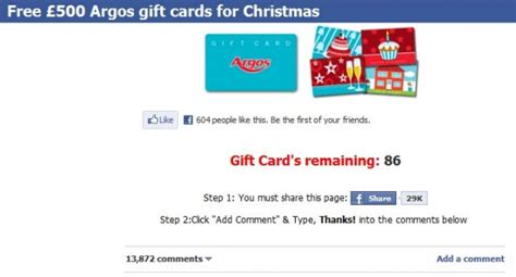 Argos E Gift Card - free 163 500 argos gift cards for christmas facebook scam