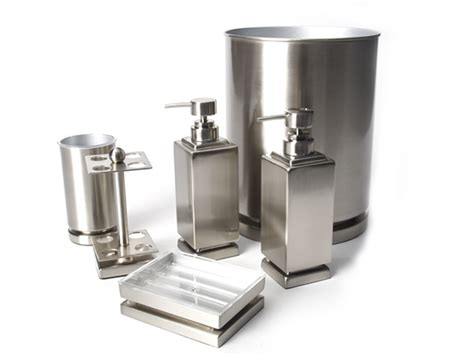Bathroom Accessories Brushed Nickel Harmony 6 Pc Brushed Nickel Bath Set