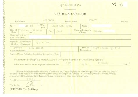 birth certificate template for school project birth certificate sle image collections