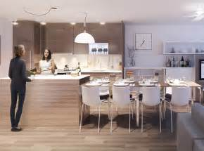 Apartment Dining Room Tables by Integrated Dining Table With Kitchen Island For Modern