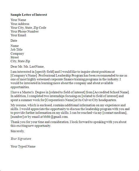 letter application letter interest job