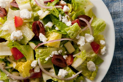 greek salads easy greek salad recipe chow com