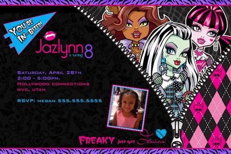 monster high invitations template hot girls wallpaper