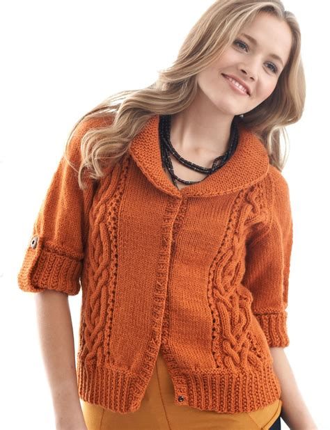 knitting pattern sweater with collar patons cables and collar cardigan knit pattern