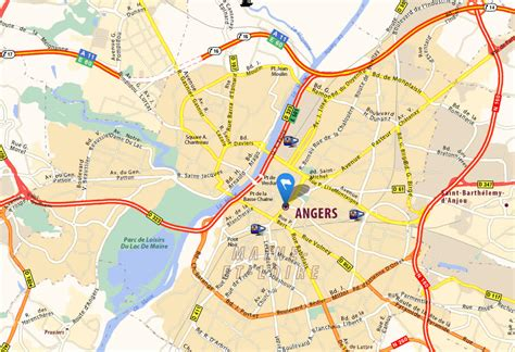 angers map angers map and angers satellite image
