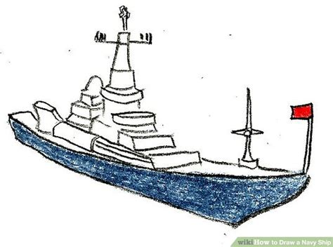 how to draw a navy ship 9 steps with pictures wikihow - How To Draw A Navy Boat