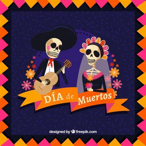dise 241 o de calavera mexicana descargar vectores gratis fondos de pantalla fiesta dia de muertos fondo rom 225