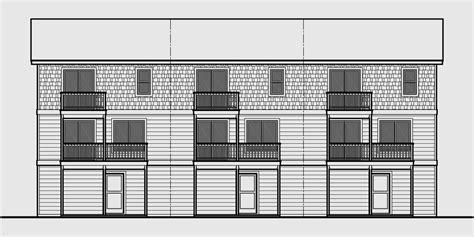 triplex plans small lot house plans row house plans