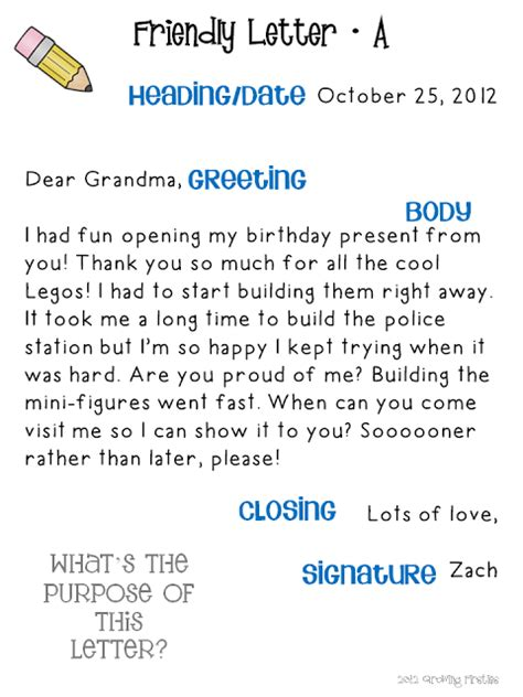 Writing A Business Letter 6th Grade friendly letter writing pack friendly letter letter