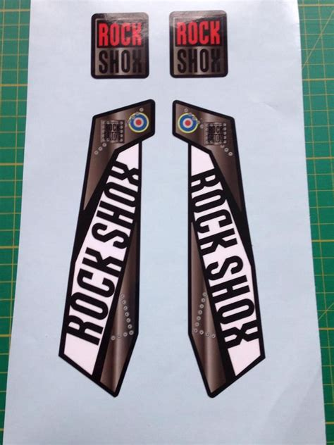 Rock Shox Yari Aufkleber by Rock Shox Bomber Plane Fork Decals Pike Rev Yari