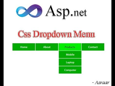 free templates for asp net c css dropdown menu in asp net