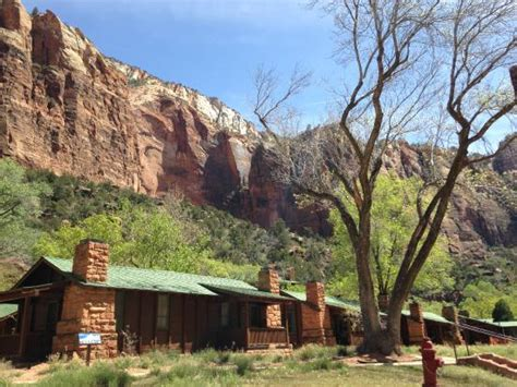 Cabins In Zion National Park by Zion National Park Lodge And Cabin Area For Shuttle Up Or Drop Picture Of Zion