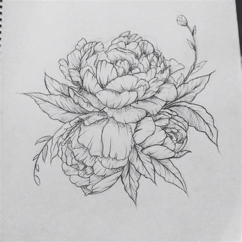 black floral tattoo designs 15 peony designs and ideas