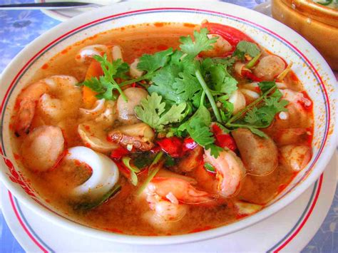 creamy tom yam kung thai hot and sour soup with shrimp recipe dishmaps