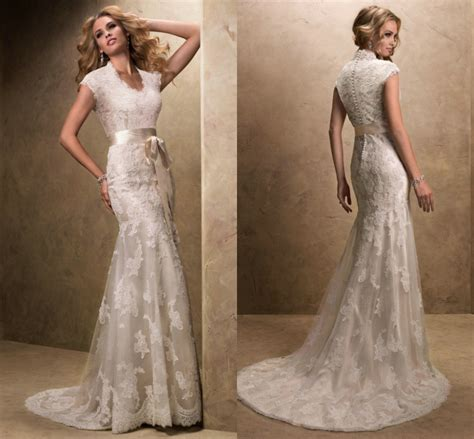 Vintage Wedding Dress Our One by Modest Wedding Dress With Sleeves Vintage V Neck Vestidos