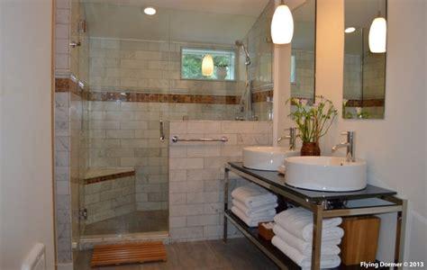 attic bedroom transformed  contemporary bathroom