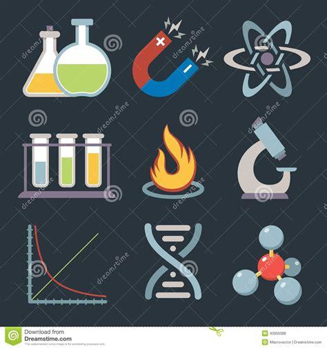 iconos de la ciencia de la f 237 sica ilustraci 243 n del vector ilustraci 243 n de gr 225 fico electr 243 n