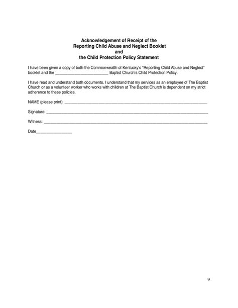 sle church child protection policy free download