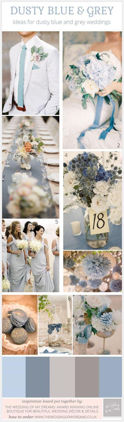 dusty blue and grey wedding ideas   The Wedding of My