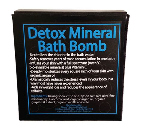 Detox Mineral Bath Bomb by Detox Your Bathbomb Mineral Bath Bomb