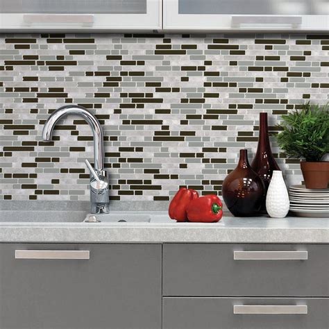 smart tiles kitchen backsplash smart tiles idaho 9 85 in w x 9 85 in h peel and stick