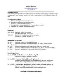 Sonographer Resume Sample Valerie J Glade Resume