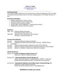 examples of ultrasound resume 1