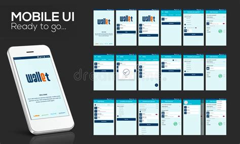 design gui online mobile ui ux and gui for online money transfer stock